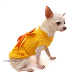 Yellow Victorian Ruffled Dog Dress Elegant Pet Costume DF92 by Myknitt (2)