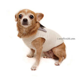 White Elegant Dog Tuxedo Wedding Costume, Chihuahua Wedding Tuxedo DF96 by Myknitt (1)