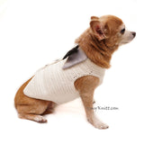 White Elegant Dog Tuxedo Wedding Costume, Chihuahua Wedding Tuxedo DF96 by Myknitt (2)