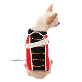British Red Coat Army Dog Costume Halloween Pet Clothes Crochet DF98 by Myknitt (1)