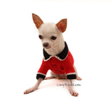 British Red Coat Army Dog Costume Halloween Pet Clothes Crochet DF98 by Myknitt (2)