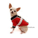 British Red Coat Army Dog Costume Halloween Pet Clothes Crochet DF98 by Myknitt (3)