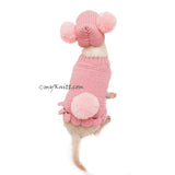 Pink Dog Clothes Bunny Pom Pom Hat Cute Knitting Pet Sweater DF99 by Myknitt (4)