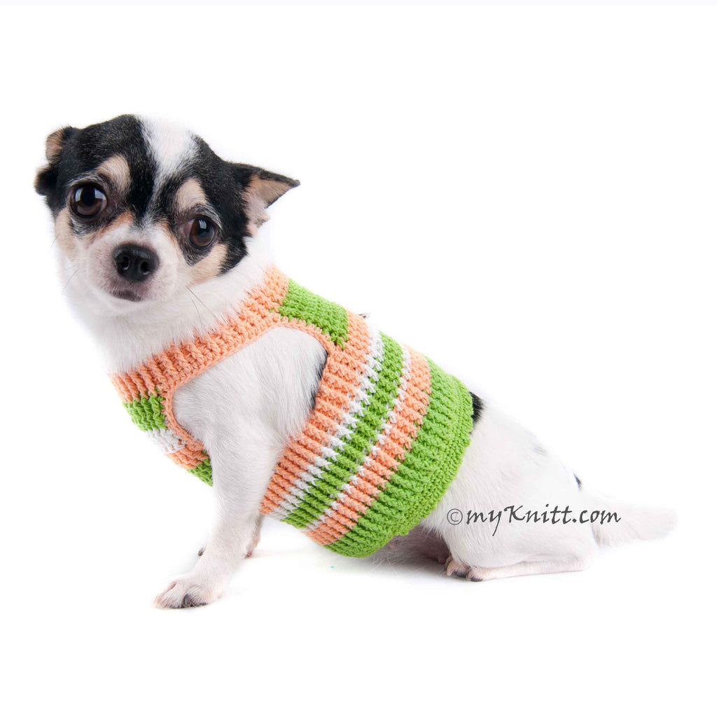 Cotton Pastel Dog Harness Chihuahua Clothes with D Ring DH12