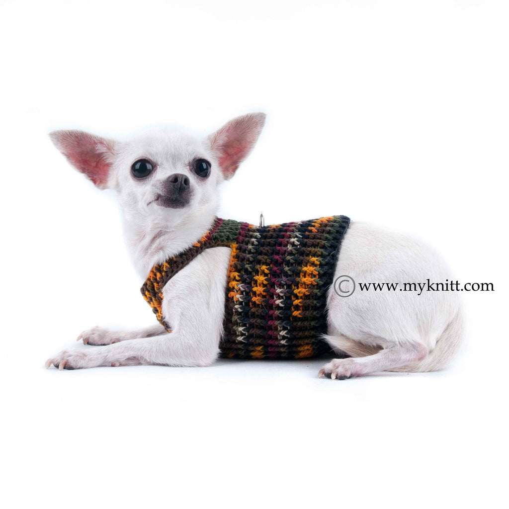 Choke Free Dog Harness Vest Cotton Chihuahua Clothes with Ring D DH1