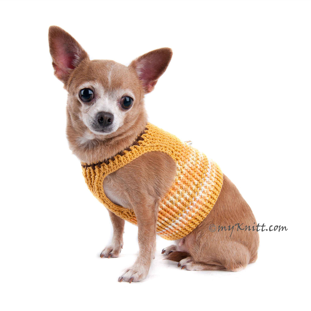 Choke Free Dog Harness Cotton Chihuahua Clothes with D Ring DH2