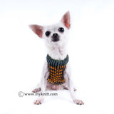 Camo Dog Clothes with Ring D Handmade Crochet Pet Harness DH3