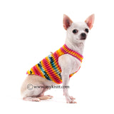 Colorful Cotton Dog Harness Comfortable Choke Free Hand Crochet DH47