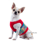 Red Turquoise Dog Harness Soft Cotton Choke Free Collar DH67