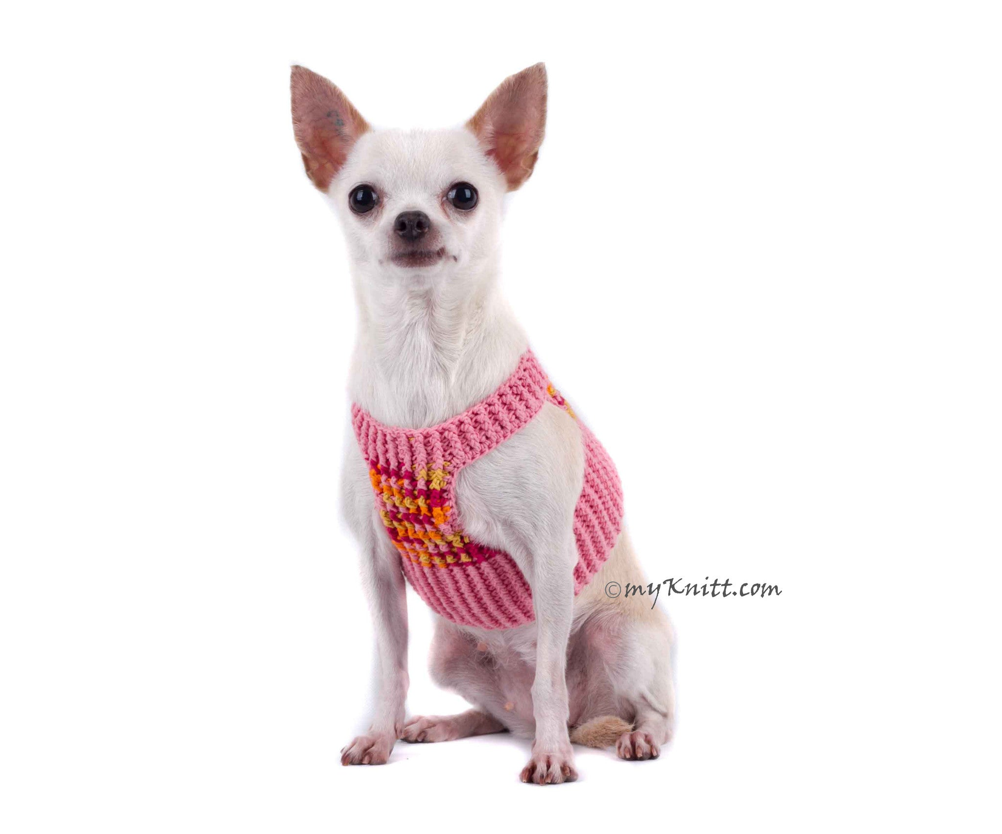 dog comfortable soft pink hand burgundy chihuahua comforter crochet harness pin