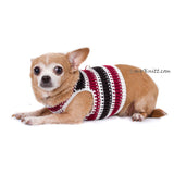 Black Maroon Dog Harness Vest Handmade Knit Choke Free Collar DH74 by Myknitt (3)