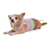 Rainbow Pink Turquoise Baby Color Hand Knitting Dog Harness Choke Free DH75 by Myknitt (2)