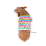 Rainbow Pink Turquoise Baby Color Hand Knitting Dog Harness Choke Free DH75 by Myknitt (3)