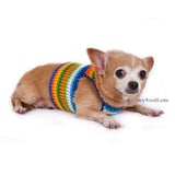 Male Dog Harness Vest Crocheted Chihuahua Clothes DH77