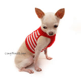 Red Dog Harness Vest, Chihuahua Clothes DH79 By Myknitt