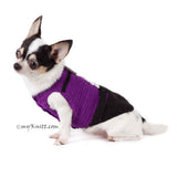 Evil Minion Dog Costume Purple Despicable Me Pet Clothes Halloween DK782 by Myknitt (2)