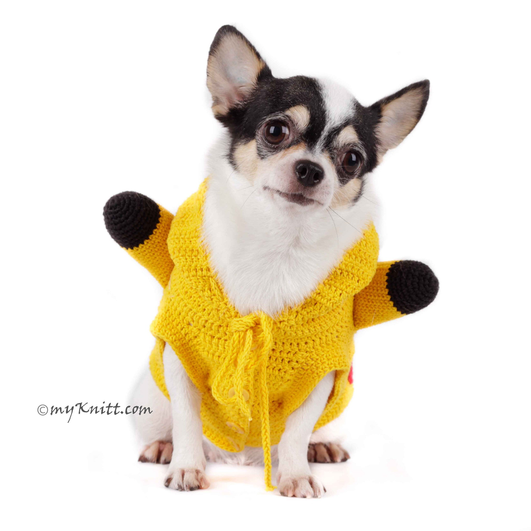Pikachu Dog Hoodie Pokemon Go Pet Costume for Halloween DK784 by ...