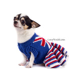 Union Jack Dog Dress Ruffle Crocheted DK790 Myknitt (2)