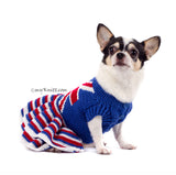 Union Jack Dog Dress Ruffle Crocheted DK790 Myknitt (3)