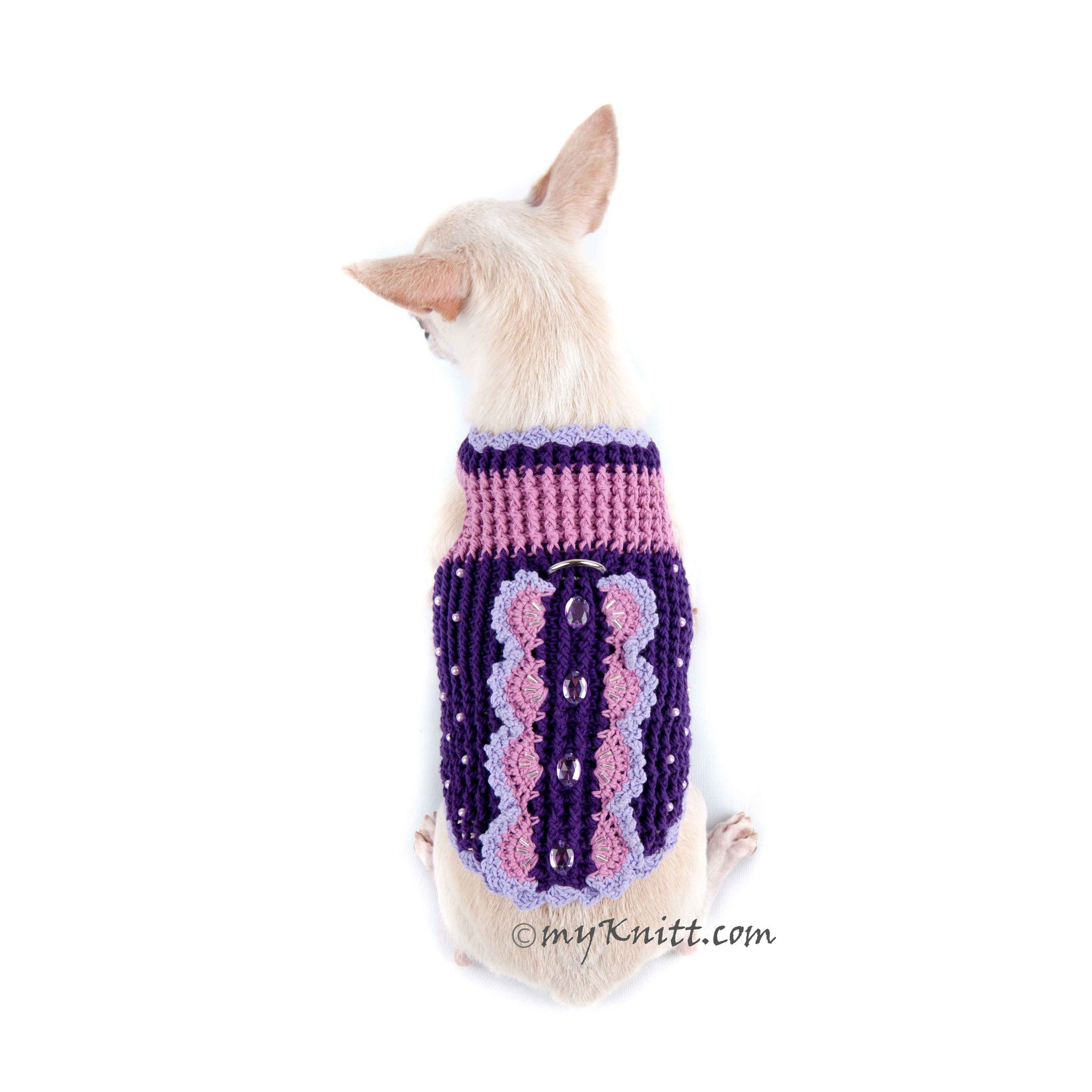 Butterfly Dog Harness Purple Summer Dog Clothes DK907