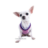 Butterfly Dog Harness Purple Summer Dog Clothes DK907 (2)