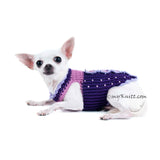Butterfly Dog Harness Purple Summer Dog Clothes DK907 (3)