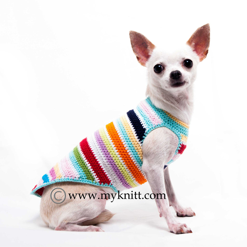 Colorful Cute Dog Clothes Cotton Handmade Crochet DK995