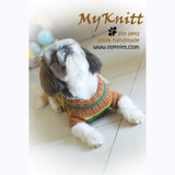Casual Dog Clothes Boy Stripes Crocheted DK813 by Myknitt (2)