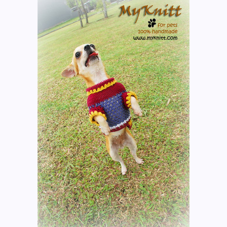 Casual Dog Clothes Lightweight Cotton Chihuahua Clothing DK817 by Myknitt