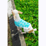 Turquoise Dog Coat Cute Cat Clothes Handmade Crocheted DK819 by Myknitt (1)