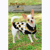 Argyle Cotton Chihuahua Sweater, Dog Clothes Crochet, DK820 by Myknitt