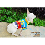 Cute Houndstooth Dog Clothes Colorful Chihuahua Clothing DK829 by Myknitt (1)