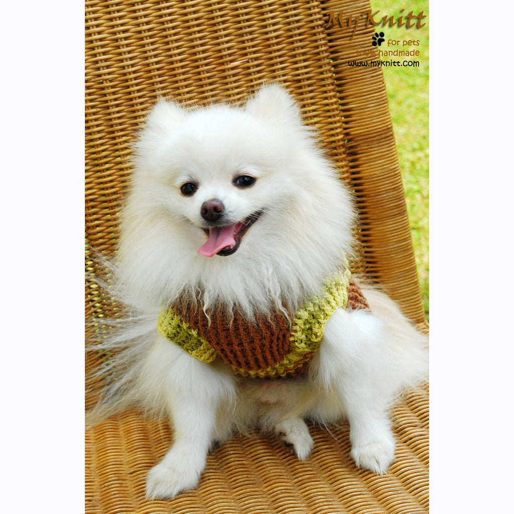 Warm Dog Sweater Cotton Handmade Crochet DK832