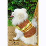 Warm Dog Sweater Cotton Handmade Crochet DK832 by Myknitt (1)
