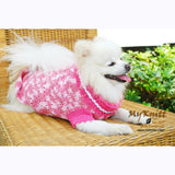 Pink Dog Clothes Lightweight Cotton Crocheted DK836 by Myknitt (1)