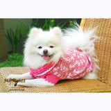 Pink Dog Clothes Lightweight Cotton Crocheted DK836 by Myknitt