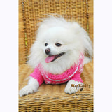 Pink Dog Clothes Lightweight Cotton Crocheted DK836 by Myknitt (2)