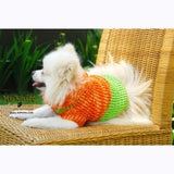 Orange and Mint Green Turtle Neck Dog Sweater Warm and Comfortable DK837 by Myknitt (1)