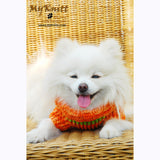 Orange and Mint Green Turtle Neck Dog Sweater Warm and Comfortable DK837 by Myknitt (3)