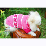 Cute Pink Dog Clothes with Flower Crocheted DK841 by Myknitt (1)