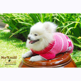 Cute Pink Dog Clothes with Flower Crocheted DK841 by Myknitt (2)