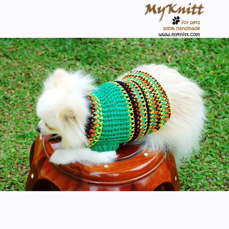 Rasta Bohemian Crochet Dog Sweater Big Dog Clothing DK844