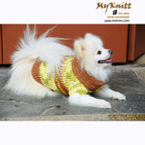 Knitted Dog Sweaters Lime Green Cotton Coats DK845 by Myknitt (2)