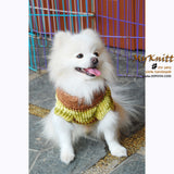 Knitted Dog Sweaters Lime Green Cotton Coats DK845 by Myknitt (3)