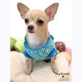 Winter Dog Coats Turquoise Blue Crochet Chihuahua Sweaters DK850 by Myknitt (3)