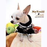 Black and White Knitted Dog Sweater Chihuahua Clothes DK851 by Myknitt (2)
