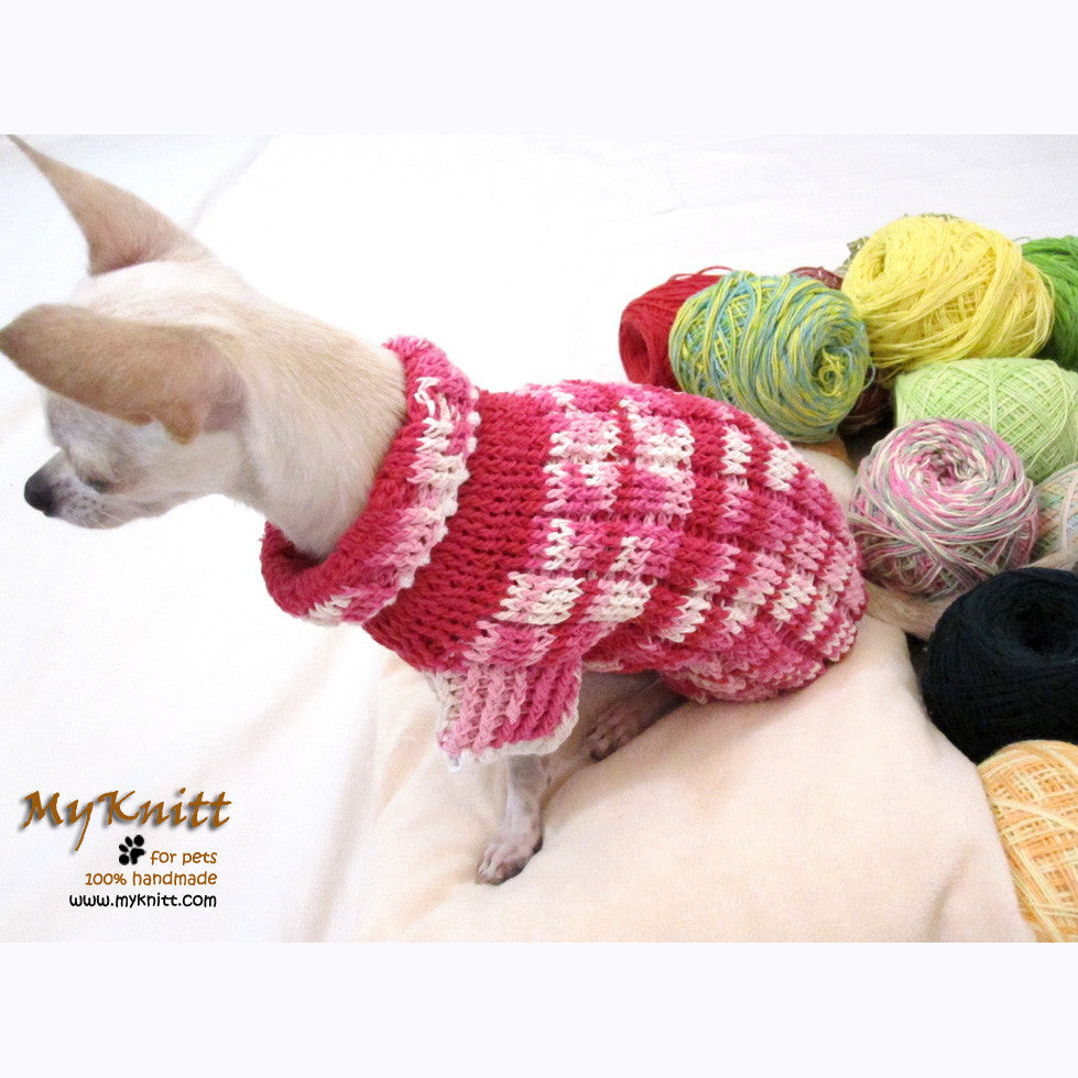 Pink Knitted Dog Sweater Japan Kimono Dog Clothes DK852 by Myknitt