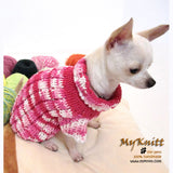 Pink Knitted Dog Sweater Japan Kimono Dog Clothes DK852 by Myknitt (1)