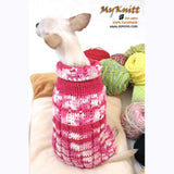 Pink Knitted Dog Sweater Japan Kimono Dog Clothes DK852 by Myknitt (2)