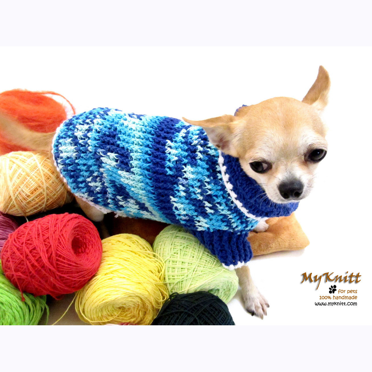 Cute Teacup Chihuahua Sweater Warm Knitted Sweater DK858 by Myknitt